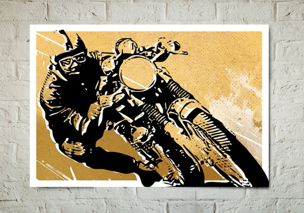 Cafe Racer Wall Art