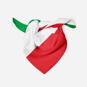 Silk Scarf Italian Flag